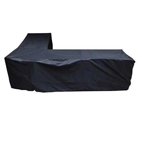 210D impermeable en forma de L de gran tamaño XL Cubiertas cubierta del sofá al aire libre cubierta de 3x3 metros Rattan Muebles de jardín del patio de la cubierta protectora del polvo Fundas Muebles