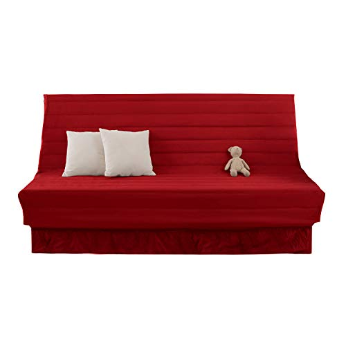 Deconovo Oxford Sofahusse Sofabezug Sofaüberwurf Couch husse Sesselbezug 190x60x90 cm Rot 2