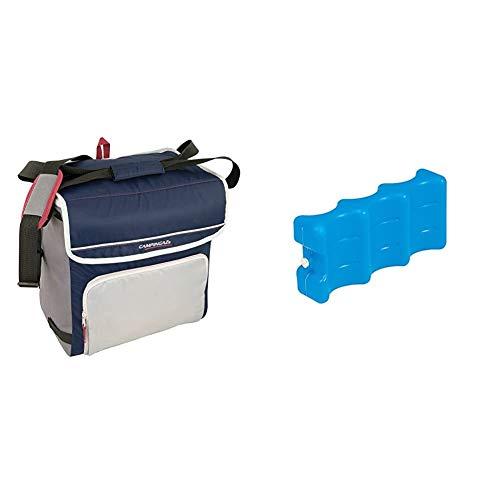 Campingaz Fold`N Cool Nevera Flexible, 30 l, Unisex, Azul Marino/Gris + Acumulador Frio, Azul, 22 x 10.50 x 5 cm