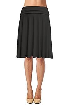 Best mid length black skirt Reviews