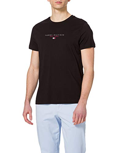 Tommy Hilfiger Essential Tommy tee Camiseta, Negro, XL para Hombre