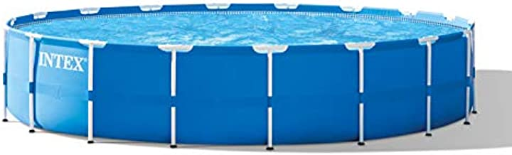 Intex 18ft x 48in Metal Frame Pool Set with Filter Pump, Ladder, Ground Cloth & Pool Cover