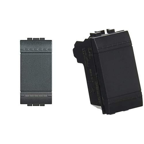 BTicino SL4004 kit invertitore living int 1P 16A & Deviatore L4003N 10A Living Light deviatore 1P 16 AX 250 Vac Antracite