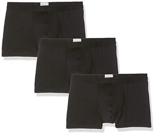 ESPRIT Herren Baltimore Boxershorts, Schwarz (Black 001), Small (Herstellergröße: S) (3er Pack)