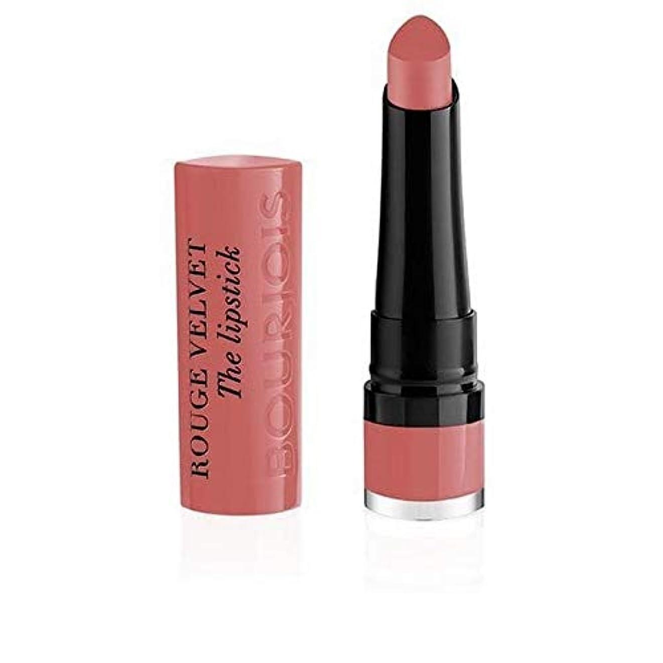 過激派カレンダー戦う[Bourjois ] ブルジョワルージュのベルベットの口紅炎は2ローズ - Bourjois Rouge Velvet Lipstick Flaming Rose 2 [並行輸入品]