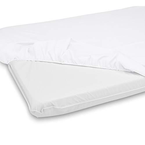 """BabyDoll Bedding Cradle Mattress & Sheet Combo, White, 15"""" L x 33"""" W"""