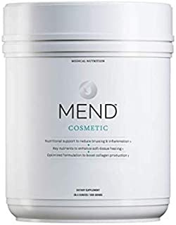 MEND Cosmetic - Nutrition for Skin Health & Beauty - Hydrolyzed Collage, Arnica, Bromelain, Prebiotics and More - Vanilla, 20 Servings