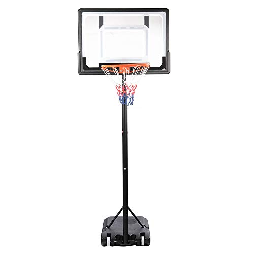 Basketballständer Höhenverstellbar Basketball Korb Tragbar Basketball-Ständer Set mit Rückwand und Rädern Verstellbarer Basketball Hoop Ständer Basketball System Ständer für Kinder Jugend Erwachsene