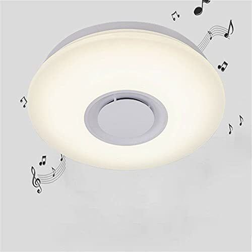 Fetcoi Lámpara de techo LED de 24 W con pequeña apertura, color Bluetooth, luz musical para habitación de los niños, lámpara de techo con Bluetooth