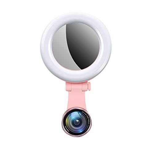 ZHAOSHUNLI Fill Light Fill Light Weitwinkel-Objektiv für Mobiltelefone Live HD Universal SLR Beauty Face-Lift (Farbe : Pink, größe : Upgrade Version)