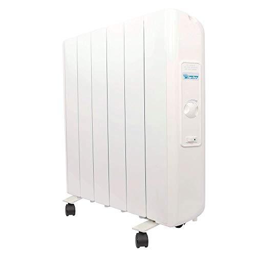 farho Radiador Electrico Eco R Ultra 1000W (6) · Emisor Termico con Termostato Analógico · Ruedas Incluidas · Radiadores Electricos Bajo Consumo para Estancias de hasta 14 m² · 20 AÑOS DE GARANTÍA