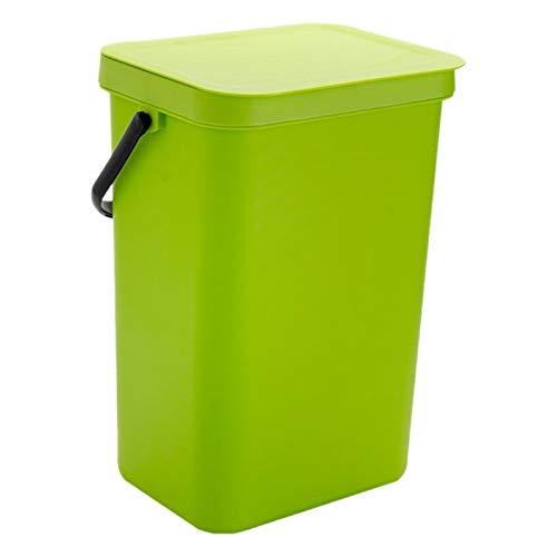 Badezimmer Wand Abfalleimer Küchenpapierkorb Wohnzimmer Trash Can WC Trash Can Schlafzimmer Trash Can Praktischer Mülleimer (Color : Green)