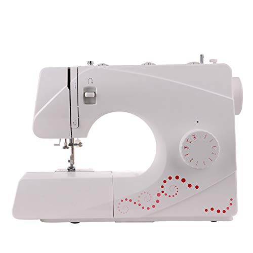 Máquina de Coser Máquina De Coser Comercial Multifuncional para Principiantes Máquina De Coser De Costura Gruesa Eléctrica para Cortinas Manteles (Color : White, Size : 36X18X30CM)