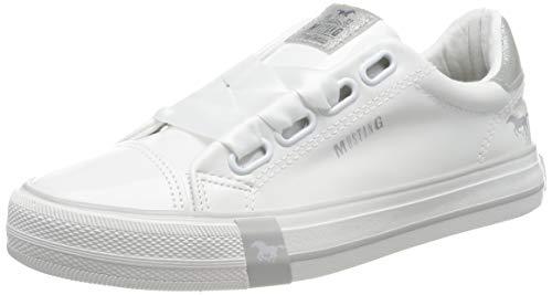 MUSTANG Damen 1313-301 Sneaker, Weiß (Weiß 1), 41 EU