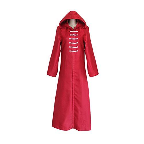 CGBF - Tokyo Ghoul Cape - Disfraz de cosplay con capucha para Halloween, color rojo, L