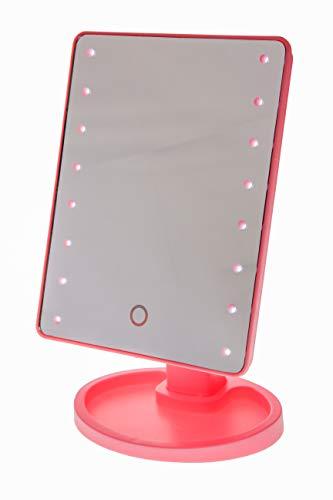 United Entertainment - Miroir de maquillage pour écran tactile avec lampes LED - Rose