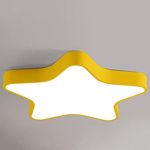 PLSDH Lámpara De Techo, Lámpara De Luz De Techo con Forma De Estrella, Aplique Creativo De Montaje Empotrado De Macarons, Guardería (24 W, 16 Pulgadas, Regulable En Tres Colores)