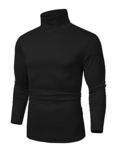 COOFANDY Men's Slim Fit Basic Thermal Turtleneck...