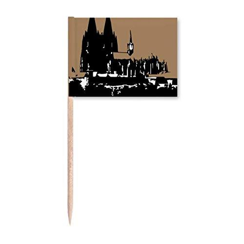 Deutschland Köln Dom Europäische Zahnstocher Flaggen Marker Topper Party Dekoration