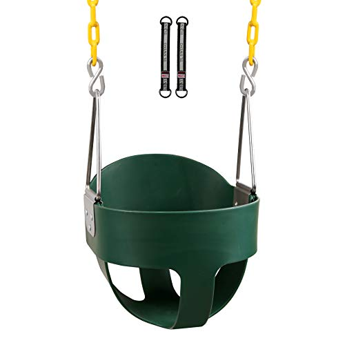 RedSwing High Back Full Bucket Toddle Swing with Pinch-Free Coated Chains, Heavy Duty Kids Swing Seat for Outside, Playground, Backyard, Swing Set Accessories
