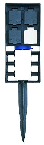 OASE 36310 InScenio FM-Master 2 - 1 permanente und 3 ausschaltbare Gartensteckdosen mit Funkfernübertragung und Spritzschutz zur Stromversorgung für den Garten und Außenbereich