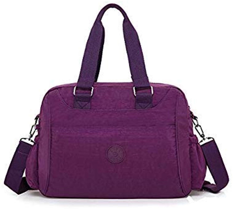 Bloomerang BOBO Brand Women Handbags High Quality Designer Messenger Bags Ladies Shoulder Bags Female Waterproof Nylon Crossbody Bag bolsas color Purple Size 40x30x15CM