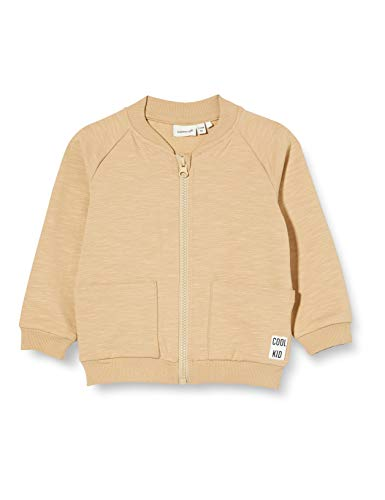 NAME IT Baby-Jungen NBMFESTIAN LS Sweat Card UNB Jacke, White Pepper, 56