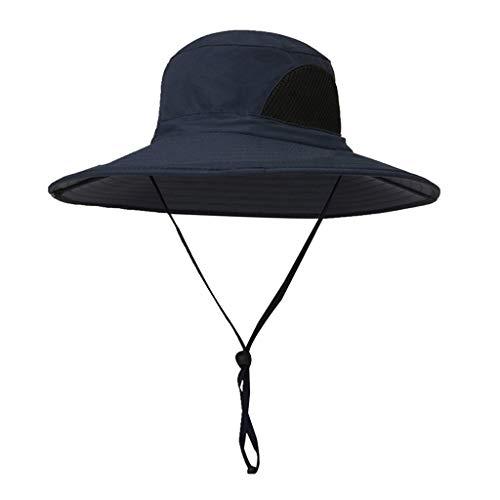 yotijar Chapéu de Verão Unissex, Chapéu de Proteção UV Solar, Chapéu de Aba Larga para Exteriores com - Azul marinho