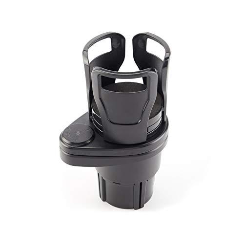 XGzhsa Autotassenhalter, Getränkehalter Auto, 2 in 1 multifunktionaler Autotrinkhalter 360 Grad drehbarer Verstellbarer Doppelflaschenhalter Geeignet für Verschiedene Automodelle (schwarz)
