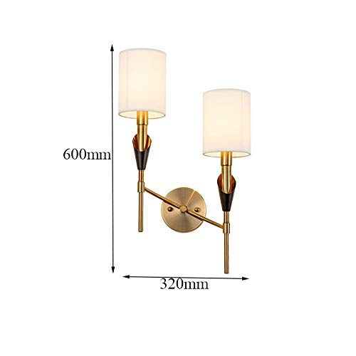 Wandlantaarn, wandlamp, kristal, spiegel, wandlamp, moderne wandlamp, stof, lampenkap, wandlamp, ophanging voor woonkamer/verlichting, E14, klasse D