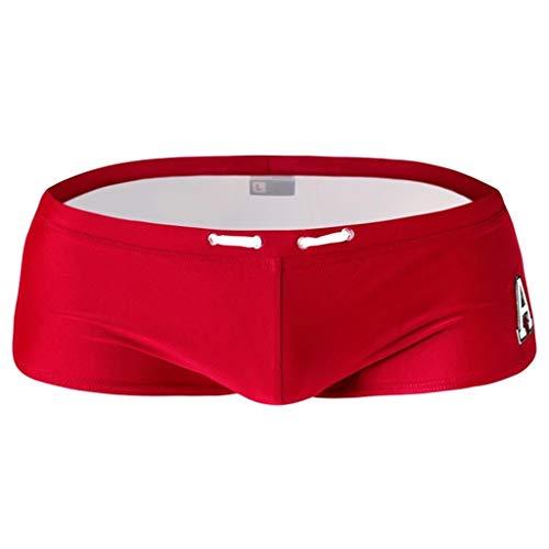 SoonerQuicker Shorts voor heren, zomer, strandlocker, sexy boxer, elastisch, vrijetijdsbroek, korte joggingbroek, heren, outdoortraining, ondergoed, brede broek, dunne shorts Cargo