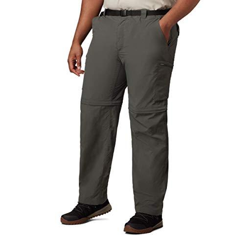 Columbia Men's Silver Ridge Convertible Pant, Breathable, UPF 50 Sun Protection, Gravel, 34x32
