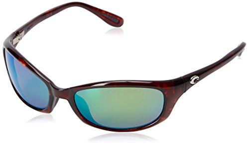 Costa Del Mar Men's Harpoon Polarized Oval Sunglasses, Tortoise/Copper Green Mirrored Polarized-580P, 62 mm