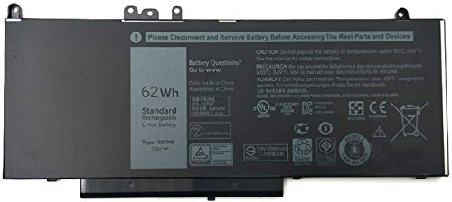 R0TMP G5M10 RYXXH ENP575577A1 WTG3T ROTMP Laptop Battery Replacement for Dell Latitude 5450 5550 E5450 E5550 Series Notebook (7.6V 62Wh)