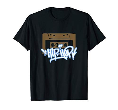 Hip-Hop Graffiti mit Retro 80er Jahre Kassette Beat Tape T-Shirt