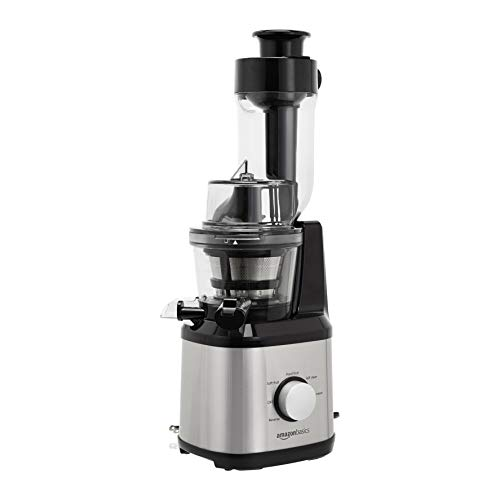 New AmazonBasics Easy to Clean Masticating Slow Juicer with Wide Chute