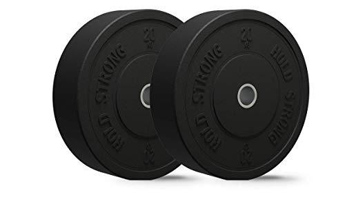 HOLD STRONG Fitness Juego de discos de goma granulado de 50,4 mm,...
