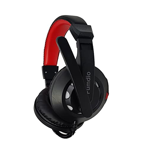 Fumdio Gaming Headset for Xbox One, PS4, PC, Over-Ear Gaming Headphones with Noise Canceling Mic LED Light