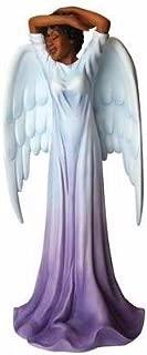 African American Expressions - Diva Angel Polyresin Figurine (4.1 x 3.5 x 8.6) FAN-01, Purple