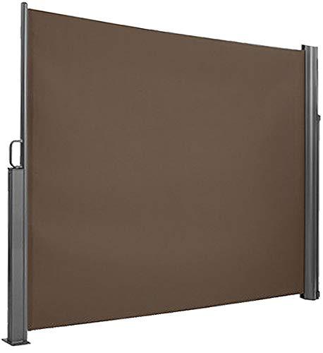 Brubaker Seitenmarkise Maui für Balkon und Terrasse - Ausziehbar - Aluminium - braun - 300 x 180 cm