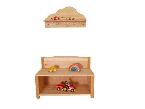 Kinder-Wand-Garderoben-Set Wolke 8055 - Schuhschrank - Garderobe - Bank - Ablage
