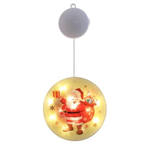 TAIZONG SB Cadena de luces resistente al agua, acrílico, araña, lámpara de araña, atmósfera de Navidad, fiesta, salón, decoración interior y exterior de Papá Noel