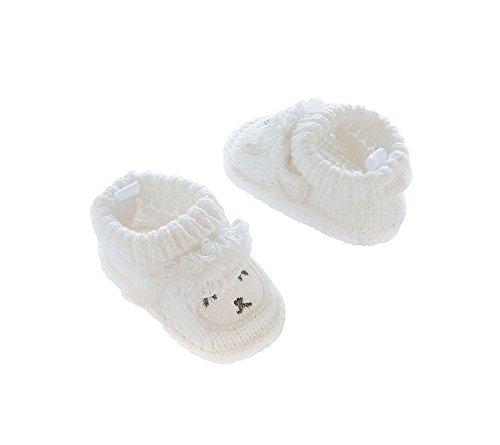 Carter's Baby Girls' Knit Booties, White, NEWBORN