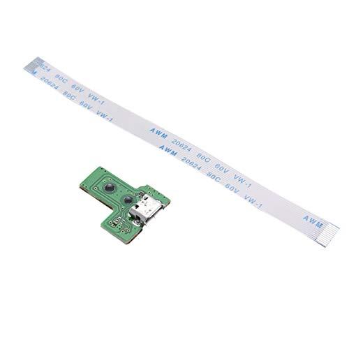 AnXiongStore Placa de Puerto de Carga USB 14 Pines JDS-030 para Controlador PS4 Cable Flexible Dualshock