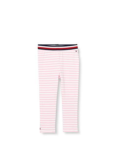 Tommy Hilfiger Unisex Baby Girl Stripe Legging, Violett (Purple 0Eg), One Size (Herstellergröße: 80)