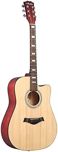 SLZFLSSHPK Guitarra acustica Guitarra Clasica Guitarra acústica Cutaway para Principiantes Guitarra acústica de balada Mate de 41 Pulgadas