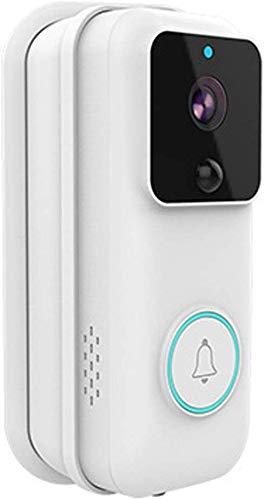 Sonnette vidéo sans fil, sonnette intelligente sans fil Wifi, interphone visuel à faible puissance 720P, conversation bidirectionnelle, caméra vision nocturne IR, détection mouvement, sonnette pour