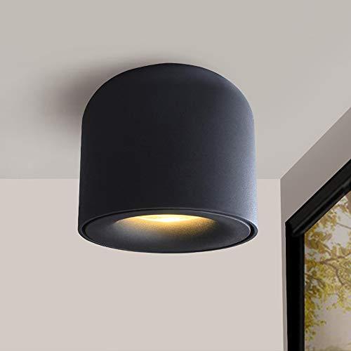 Modenny LED Downlight Deckenstrahler Wohnzimmer Lampe Deckenverkleidung Beleuchtung Für Küche Badezimmer Licht Oberfläche AC90-260v (Color : Black-Warm Light, Größe : 5w)