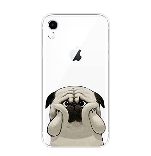 Funda para iPhone X XR XS MAX 8 7 6S 6 S Pug French Bulldog Silicona Suave Cubierta Trasera Para Apple iPhone 8 7 6S 6 S Plus Case No.5-Para iPhone 6 Plus