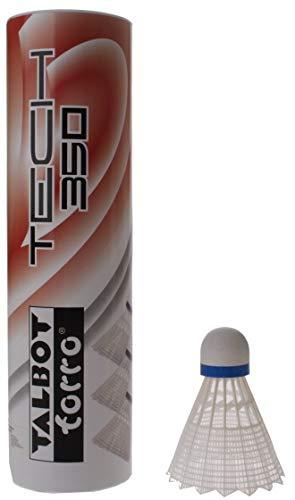 Talbot Torro Badminton-Ball TECH 350 6, 6er Dose, Korb: Gelb, Geschwindigkeit Blau-Mittel, M